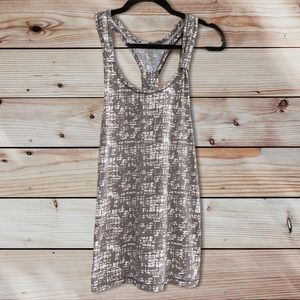 Threads 4 Thought Grey & White Racerback Tank Top